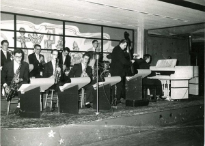 Morrie Bectel and his Orchestra.  Bob Zeller 2nd from left in front row.