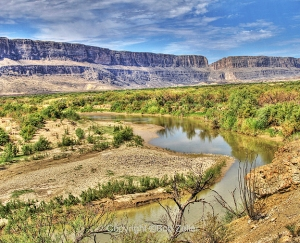 Rio Grande with Santa Elena Canyon in background