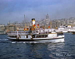 Turkish ferry.  Harbor at Istanbul, Turkey.  @Bob Zeller.