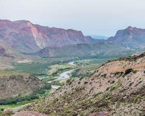 Rio Grande from the Big Hill, Hwy 170.