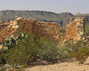 Ghost Town ruins at Terlingua, Texas.
