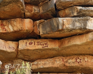 Pictographs at Paint Rock, Texas.